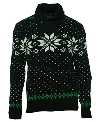 e0b445006b460 Amazon.com  Polo Ralph Lauren Men s Snowflake Shawl-Collar Sweater ...