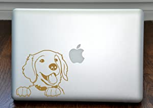 Prince the Golden Retriever Gold Decal for 13