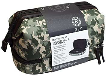 ee5e37c013 Image Unavailable. Image not available for. Color  Men s Waterproof Camo Toiletry  Bag Grooming   Shaving Travel Kit Case
