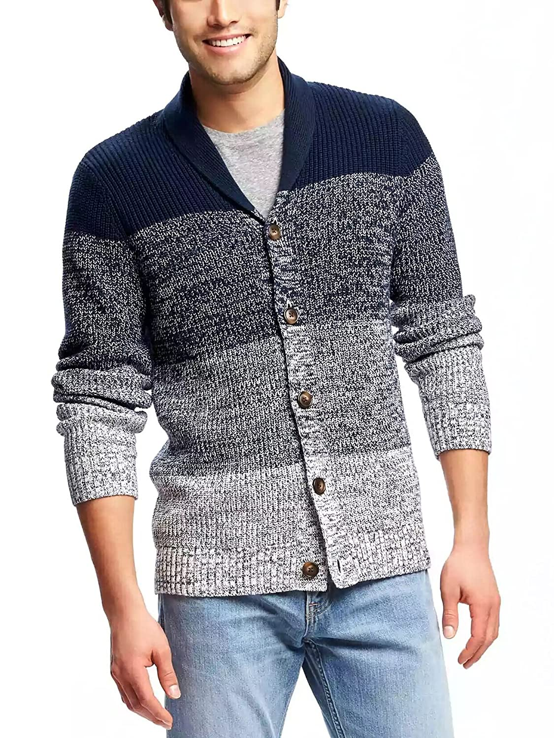 COOFANDY Men's Shawl Collar Cardigan Sweater Button Down Knitwear Overcoat AM002496
