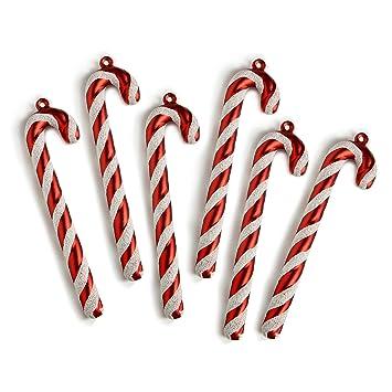 bastones de caramelo para adornar uaacuterbol de navidad con purpurina y