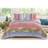 Greenland Home Fashions Classic Toile Black Quilt Set