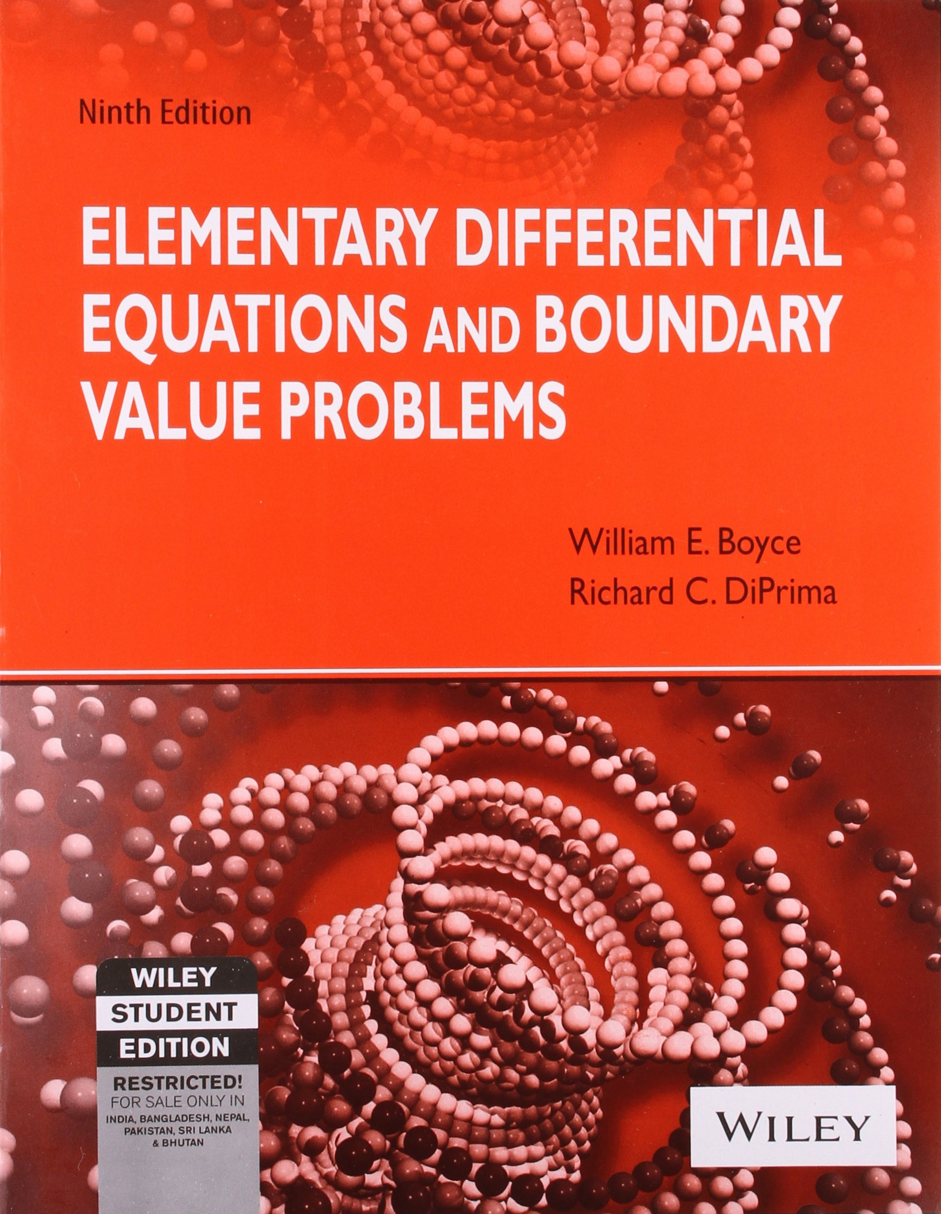Elementary Differential Equations and Boundry Value Problems: Richard C.  Diprima William E. Boyce: 9780470735862: Amazon.com: Books