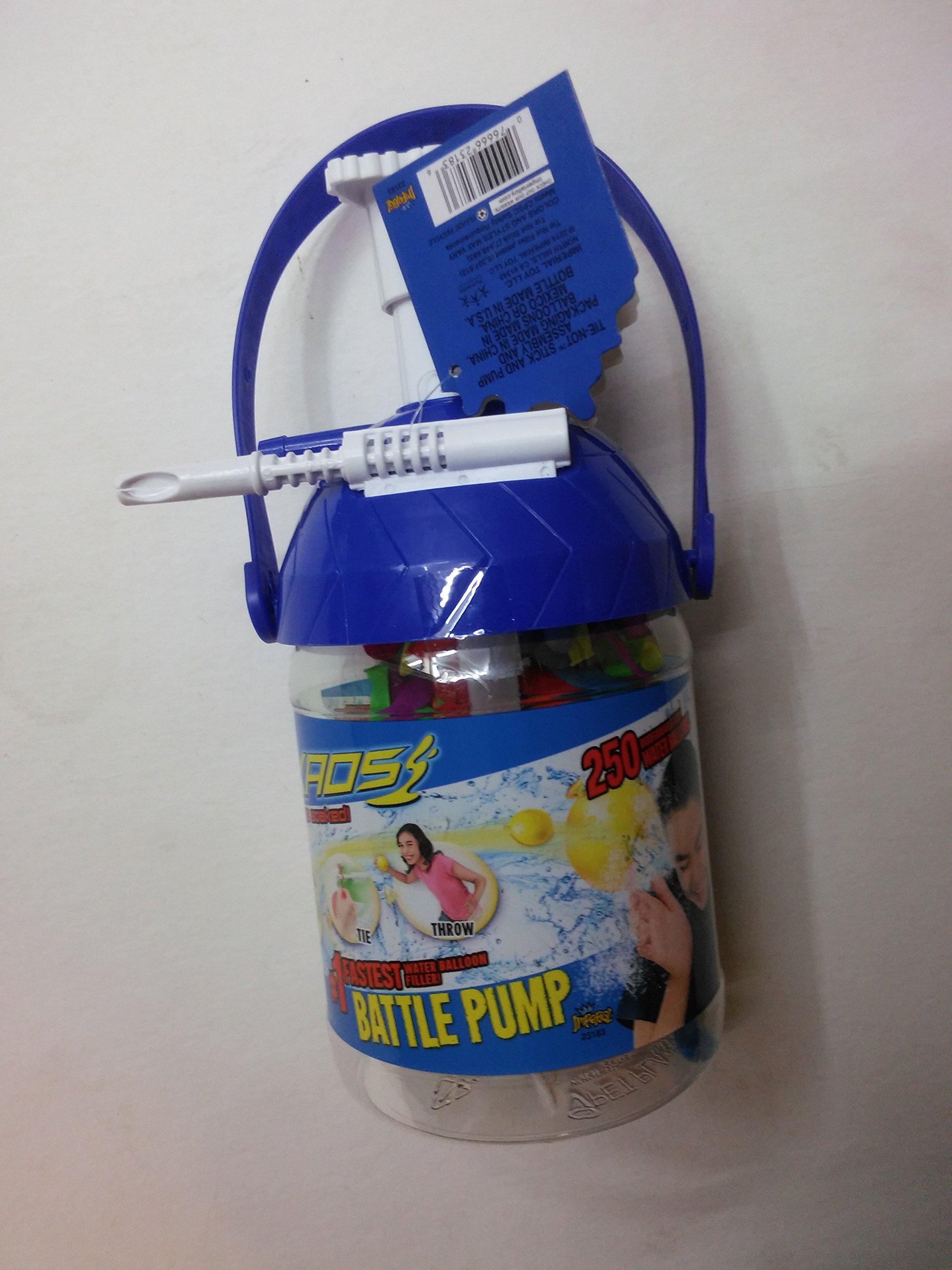 KAOS Tie Not Stick Pump #1 Fastest Warer Balloon Filler Battle Pump ( Color May Vary )