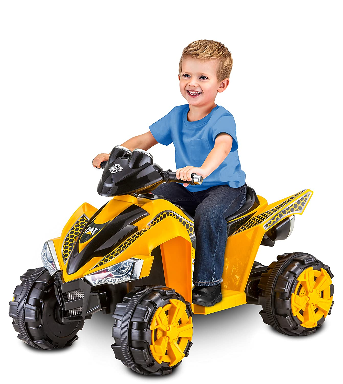 Battery Operated Ride On Toys >> Kid Trax Cat Power Atv 6v Battery Powered Ride On Toy
