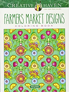 Creative Haven Farmers Market Designs Coloring Book Adult
