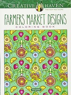 creative haven farmers market designs coloring book adult coloring - Creative Haven Coloring Books