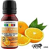 Organix Mantra Sweet Orange Cold Pressed Essential Oil - 100% Pure Aroma, Therapeutic Grade