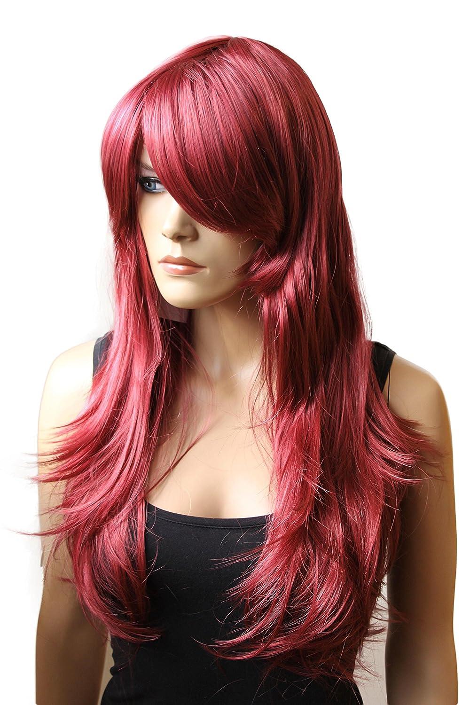 PRETTYSHOP Peluca de la peluca de pelo largo ondulado cosplaynegro PHK7