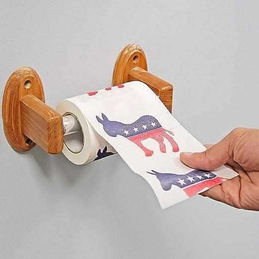 Bastante ODD Novelties Demócrata Papel higiénico, diseño: Amazon.es: Hogar