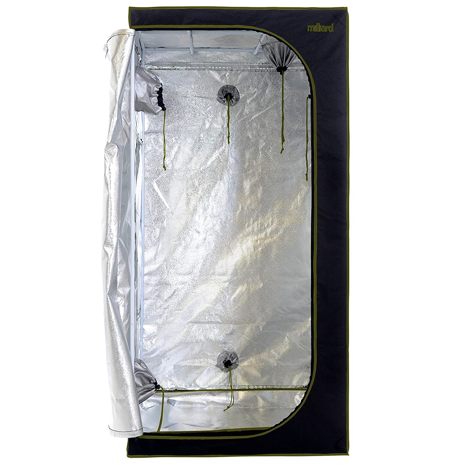 MILLIARD Horticulture D-Door 3×3 Size Grow Tent