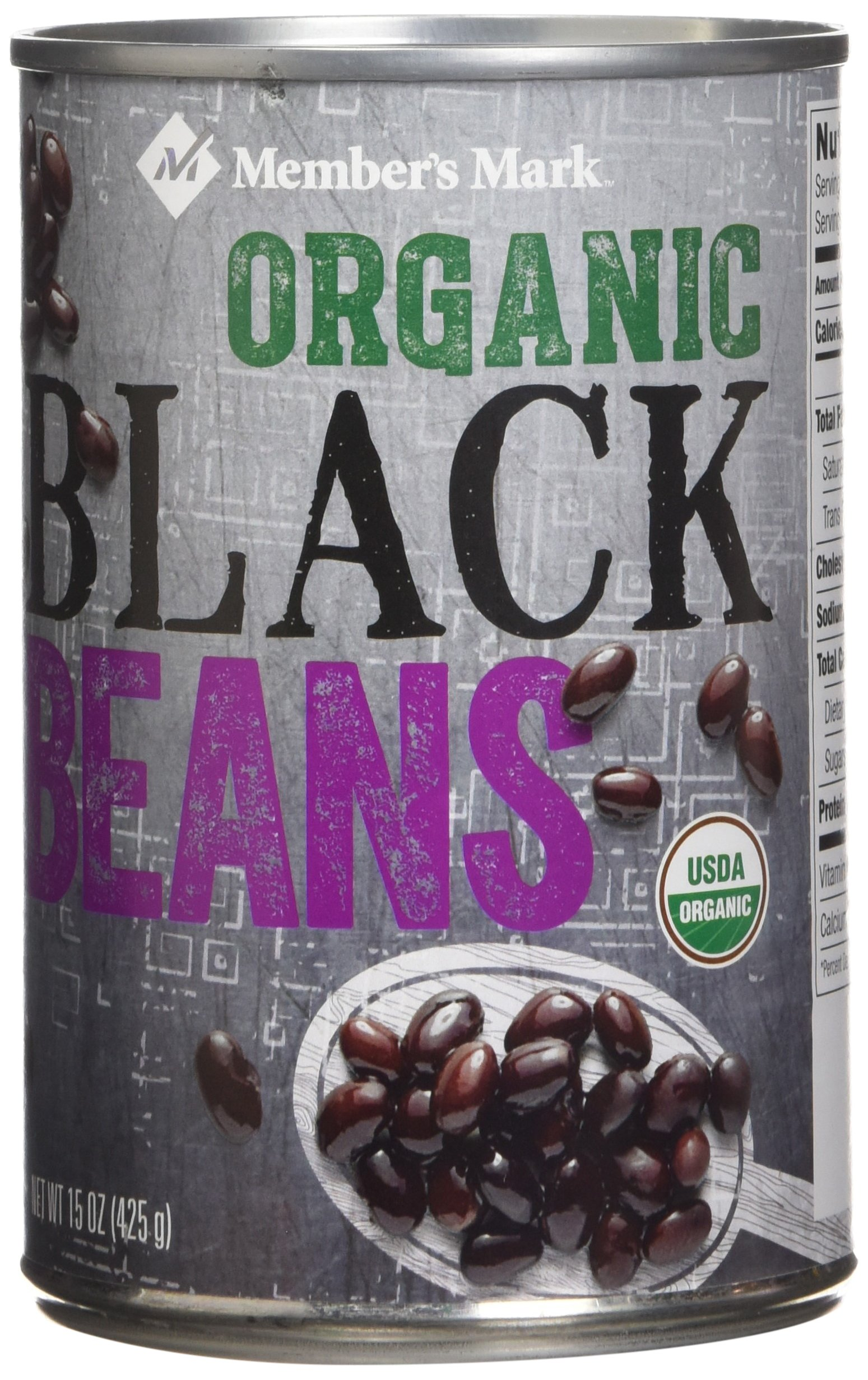 Member's Mark 8 Piece Organic Black Beans, 120 Ounce