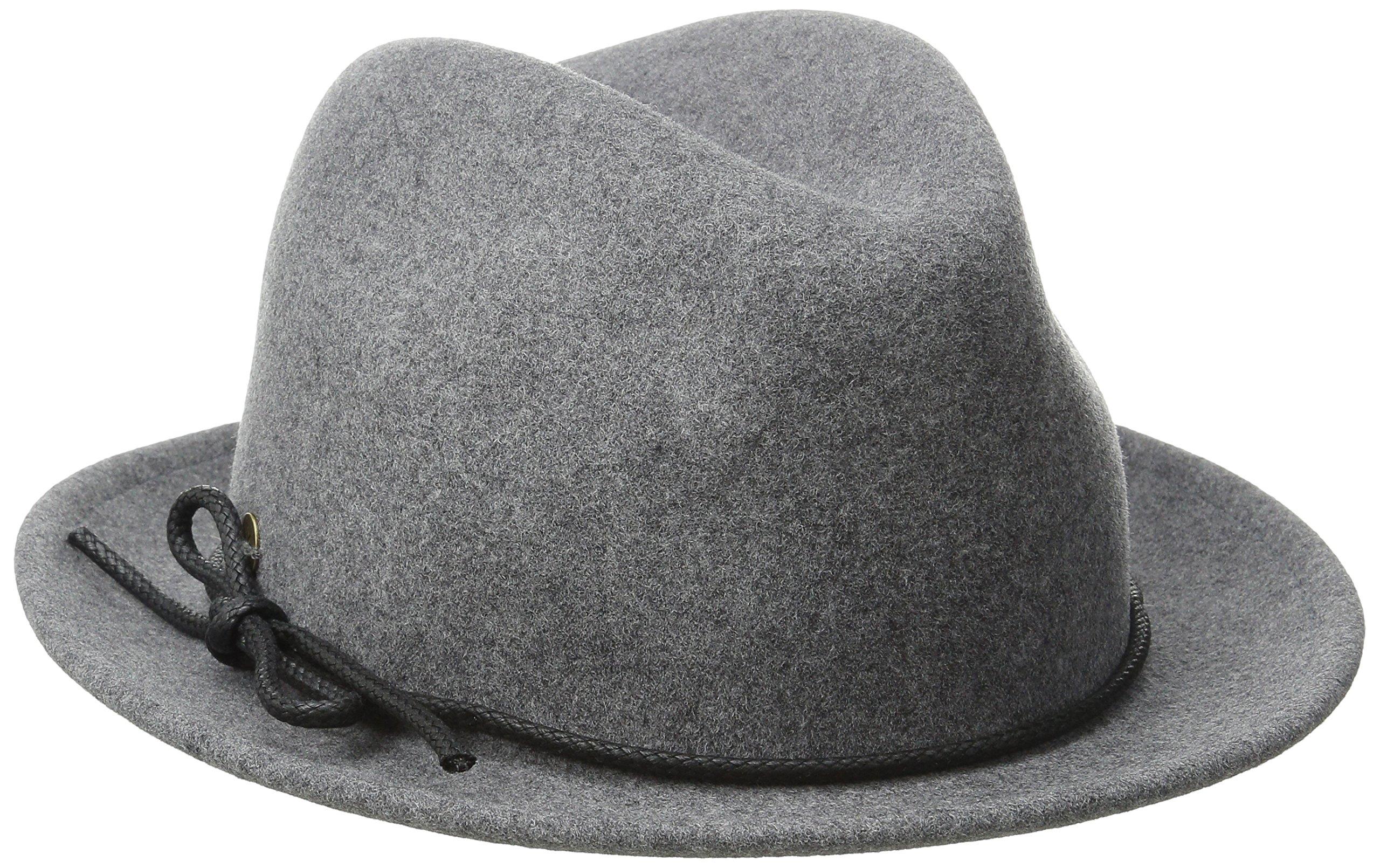 Karen Kane Women's Snapback Felt Fedora Hat, Slate Mix, Small/Medium by Karen Kane