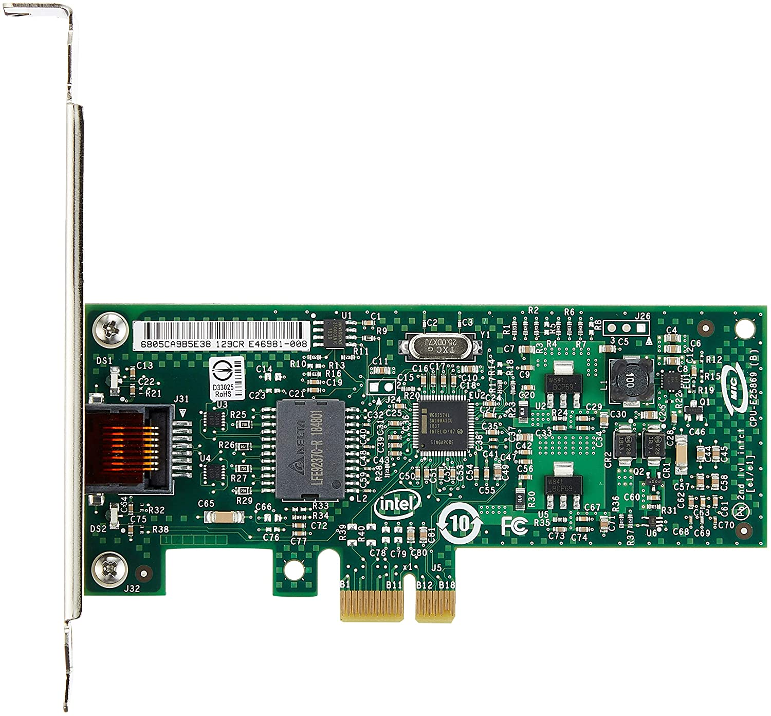 TOTOVIN PCI-e Gigabit Network Adapter Intel EXPI9301CT CT Desktop 82574L Chipset NIC