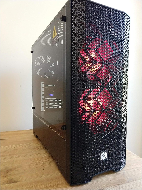 Centaurus Andromeda A4 Gaming Computer - AMD Ryzen 5 3600 Six Core 4.0GHz OC, 16GB DDR4 RAM, Radeon RX 5700 XT 8GB, 1TB SSD, Windows 10 Pro, WiFi. Custom PC with Overclocked CPU