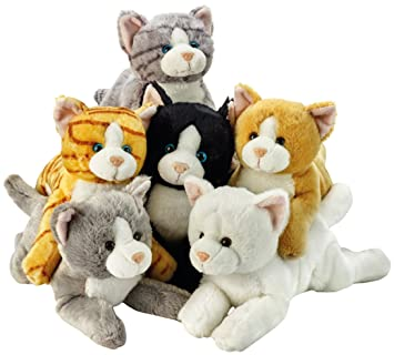 Lelly Peluches, 34 cm, Surtidos de Gatos.