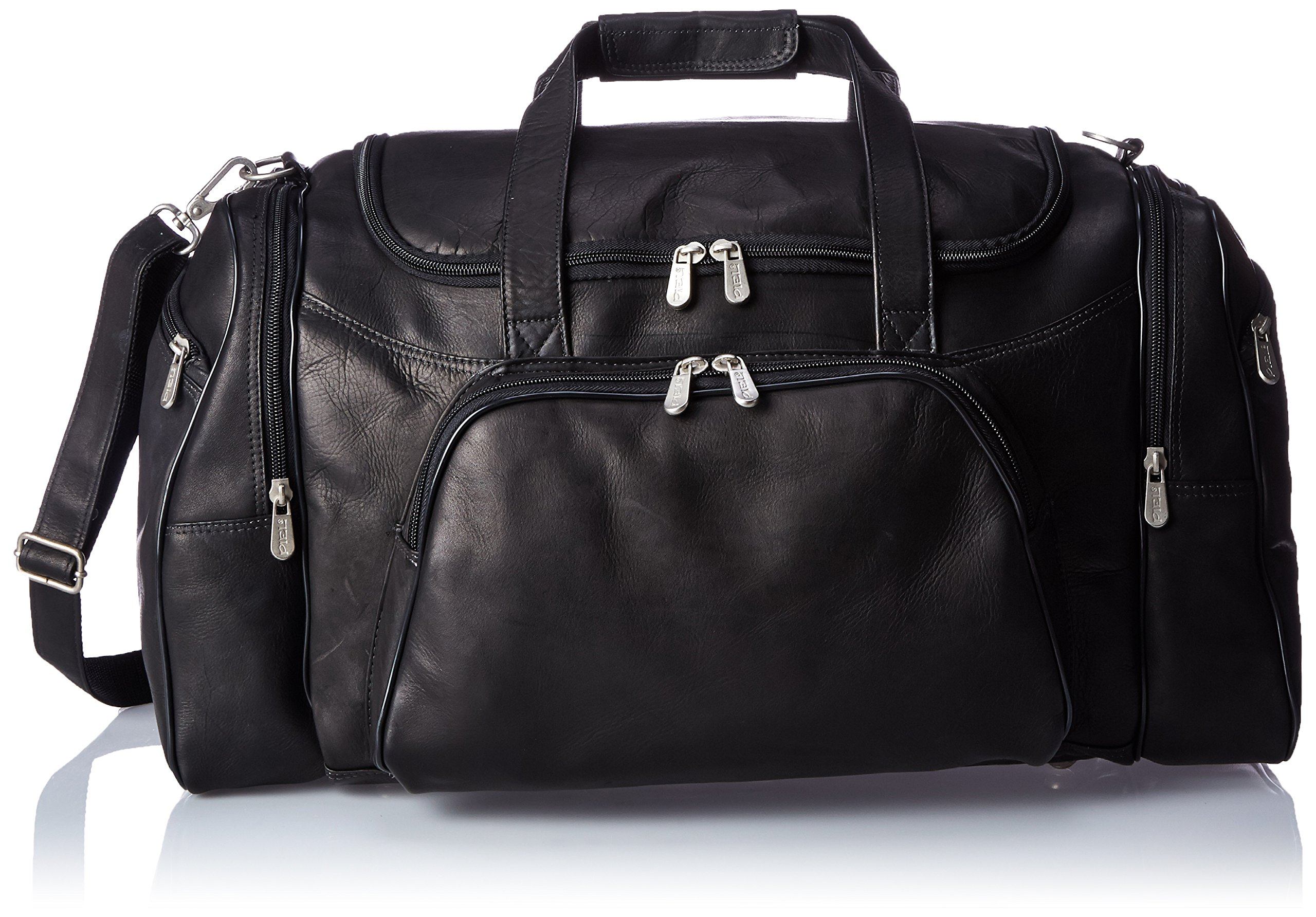 Piel Leather Sports Duffel, Black, One Size