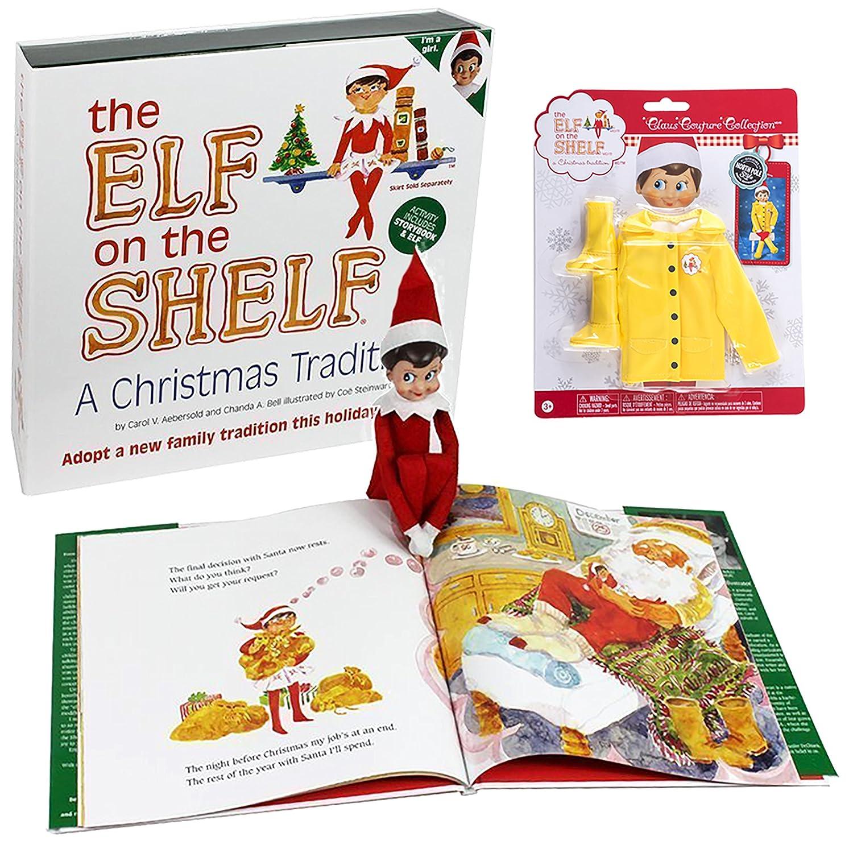 Amazon.com: Elf en el estante Set: chubasquero Juego de elfo ...