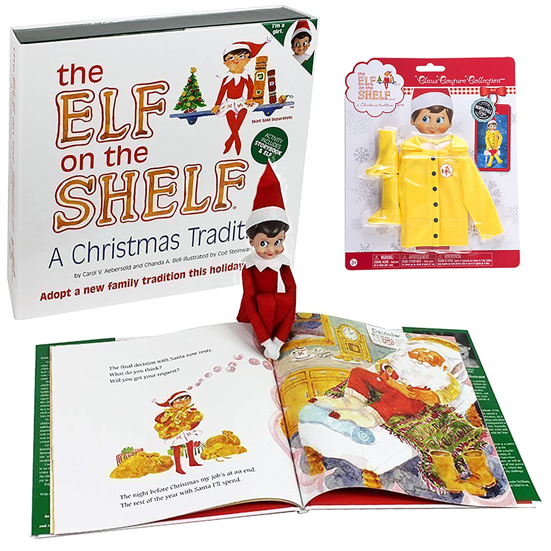 Amazon Elf on the Shelf Girl Elf Dress Up Set Raincoat Set