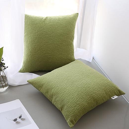 "Cushion Pillows Case Covers Kevin Textile Jacquard Velvet Decors 18/""x 18/"" Set 2"