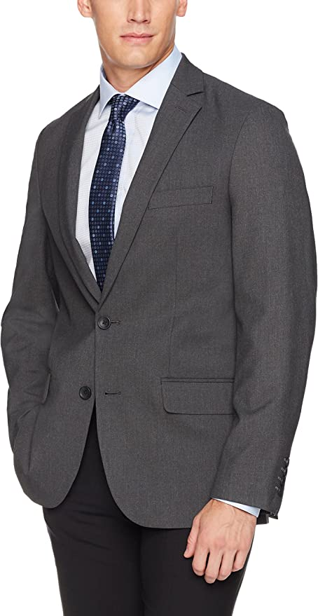 J.M Haggar 4-Way Stretch Solid Flat Front Slim Fit Suit Separate Pant and 2-Button Coat Haggar Men/'s Tailored HY70295
