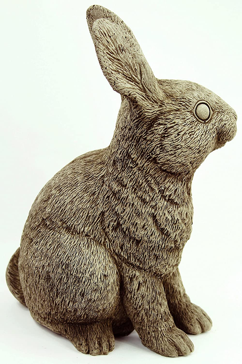 Amazon Com Rabbit Garden Statues Concrete Bunnies Cement Figures Statue Carved Easter Animal Figurine Kitchen Dining
