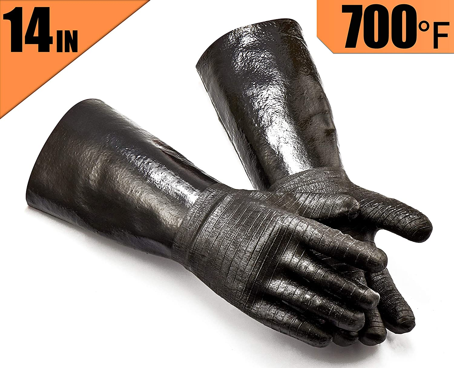"""Heat Resistant Glove 14/"""" Right Hand Only Casting Melting Wool Insulated 800°F"""