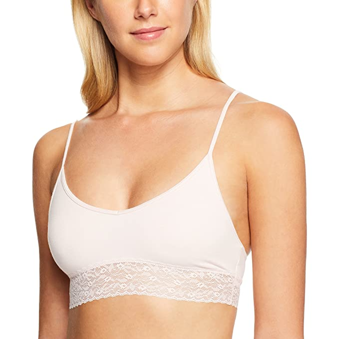 Calvin Klein Underwear Women s Bare Lace Bralette with Lace Underband  Nymph S Thigh Bra 6dc2eb151