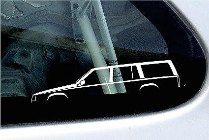 2 x de silueta de coche – Pegatinas en Volvo 740 Turbo Station Wagon
