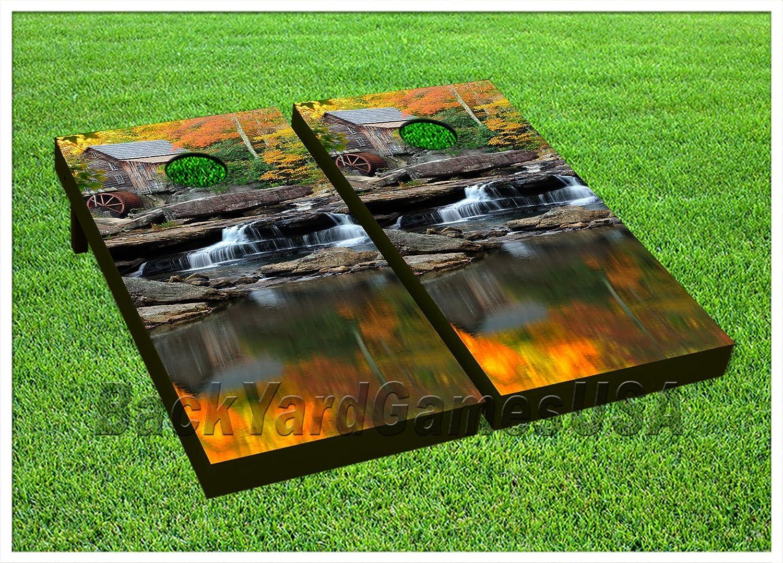 ビニールラップCornholeボードデカールWaterfall Nature Bag Toss Gameステッカー182   B0764VJ88P