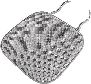 Lavish Home Chair Pad - Platinum