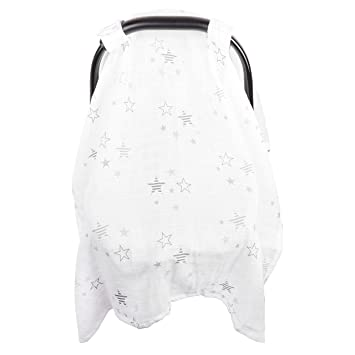 Baby Car Seat Cover Unisex Extra Large Lightweight and Breathable Canopy Cotton Muslin  sc 1 st  Amazon.com & Amazon.com: Baby Car Seat Cover Unisex Extra Large Lightweight ...