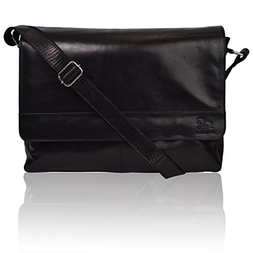 Leather Laptop Messenger Bag for Men Review