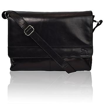 Amazon Com Leather Laptop Messenger Bag For Men Premium Office