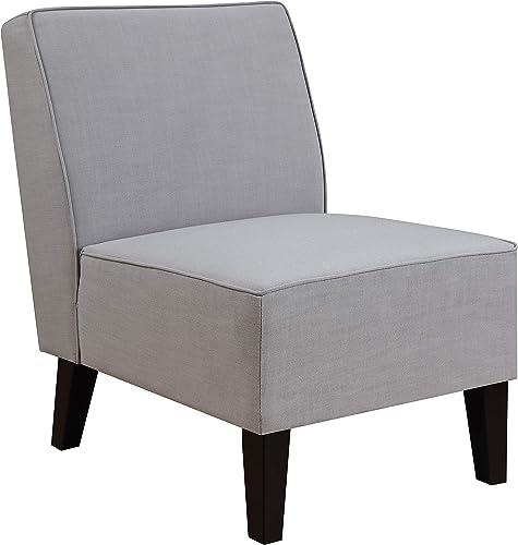 Pulaski Ash Grey, 24.00 W x 28.70 D x 32.00 H Slipper Accent Chair