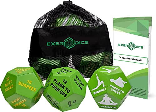 3-Pack Exercise Dice Bundle