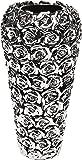 Kare 65662 玫瑰花瓶 银白色 36,5x´17,5 cm 65663