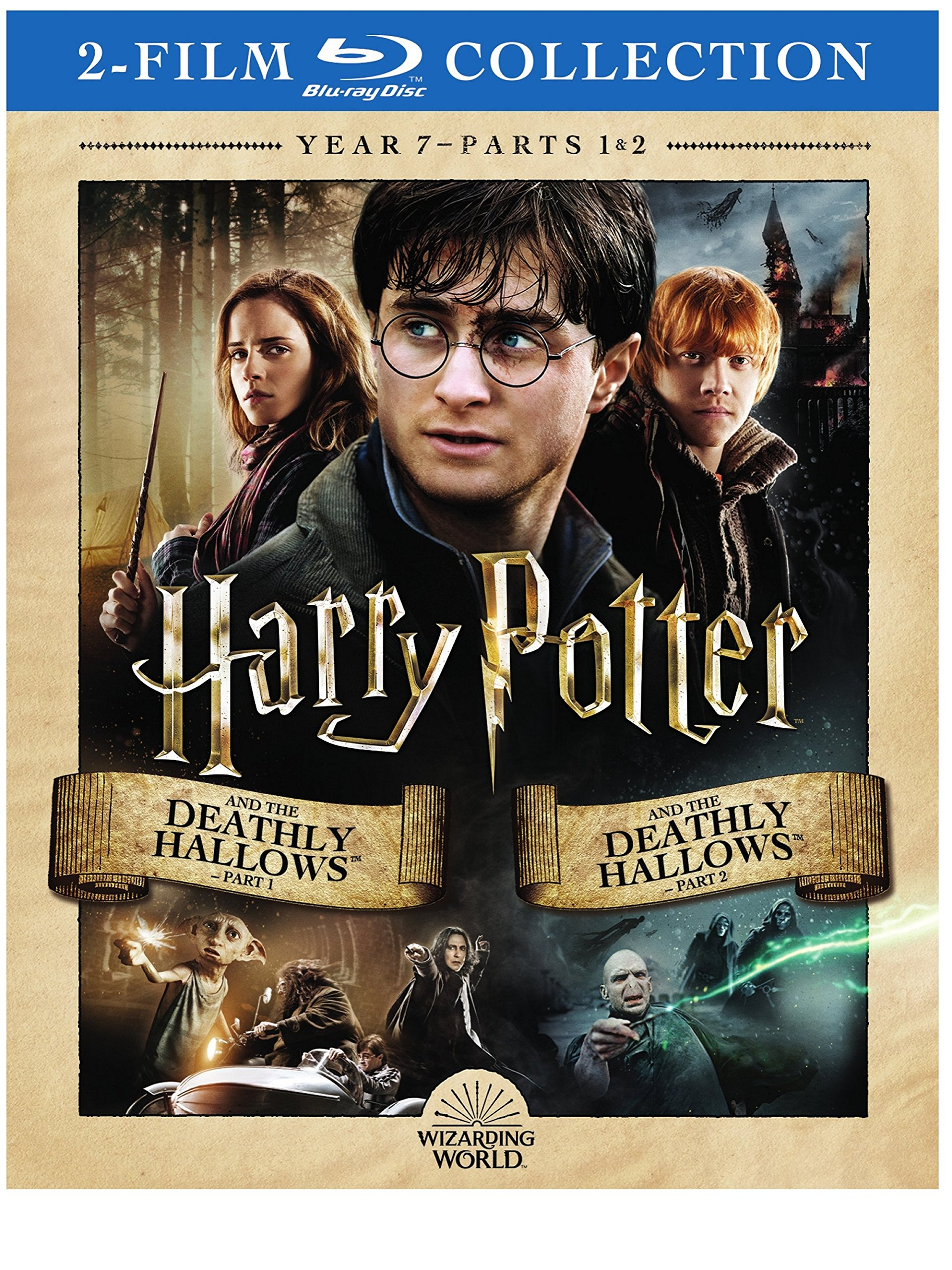 Blu-ray : Harry Potter And The Deathly Hallows, Part 1 And 2 (2 Pack, 2PC)
