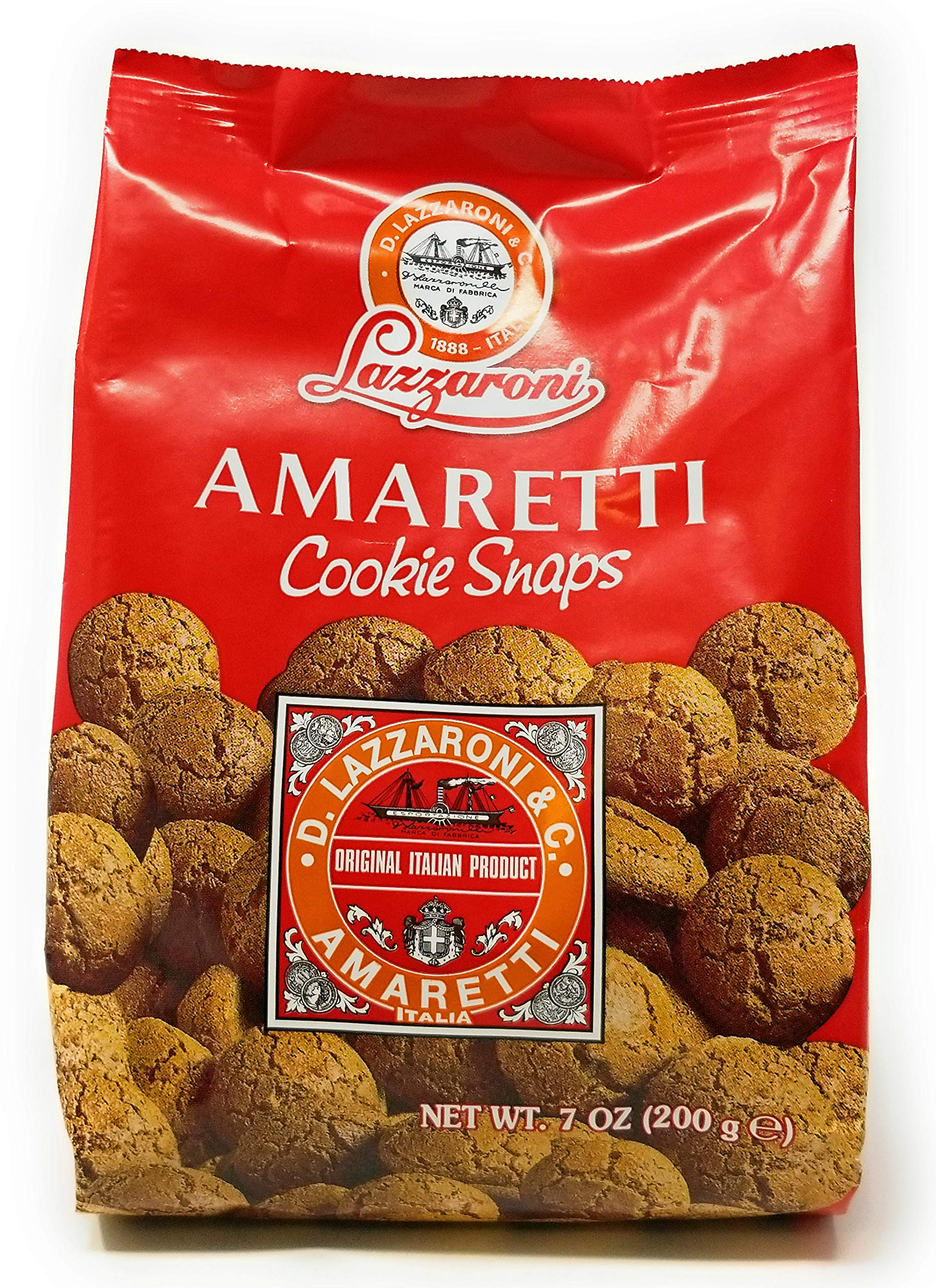Amaretti Cookie Snaps by Lazzaroni Pack of 3 Bags (7 ounce each bag)