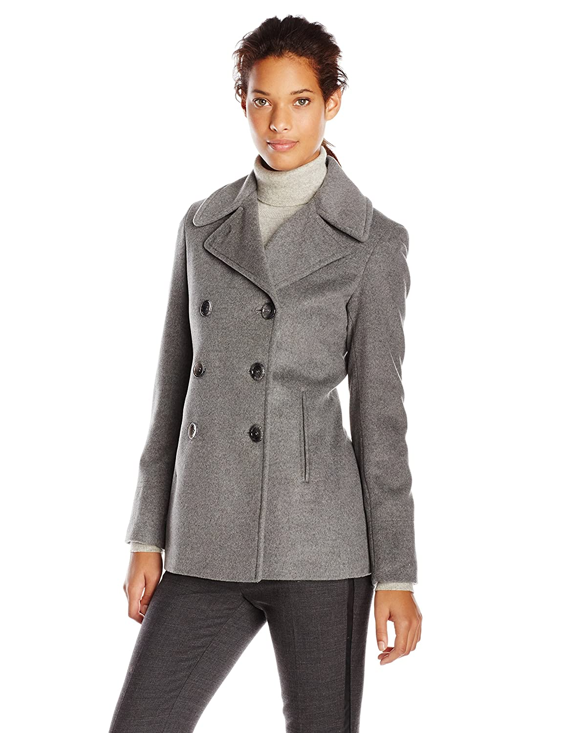 Calvin Klein Women's Double-Breasted Classic Peacoat CW482002