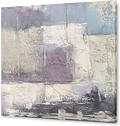 Yihui Arts Large Abstract Canvas Wall Art Paintings Sand Artworks Picture