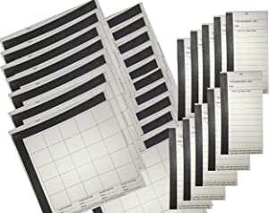Football Squares Boards & 10 Line Strip Card Combo Includes (20) 25 Square Football Sheets Boards & (10) 10 Line Football Strip Cards, Perfect for Football Pools, Superbowl, NFL,Fundraising