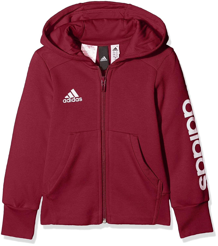 adidas Girls' Yg Linear Fz Hd Sweatshirt CF1704