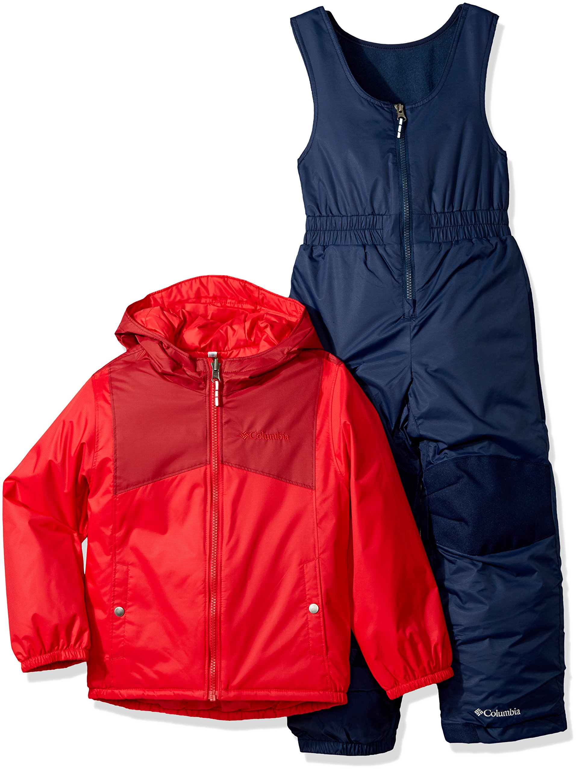 Columbia Little Girls' Double Flake Set, Mountain Red, Beet, X-Small