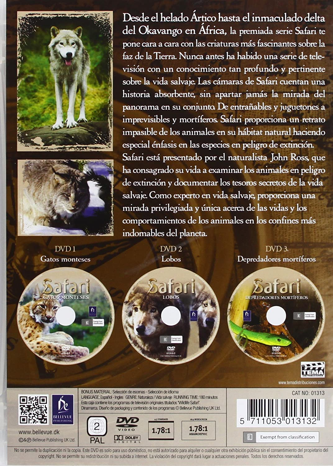 Amazon.com: Pack Safari 2: Gatos Monteses + Lobos + Depredadores Mortíferos (Import Movie) (European Format - Zone 2) V: Movies & TV