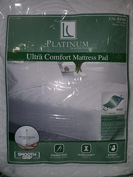 Live Comfortable Platinum Ultra Luxe Comfort Mattress Pad Cal King Amazon Co Uk Kitchen Home