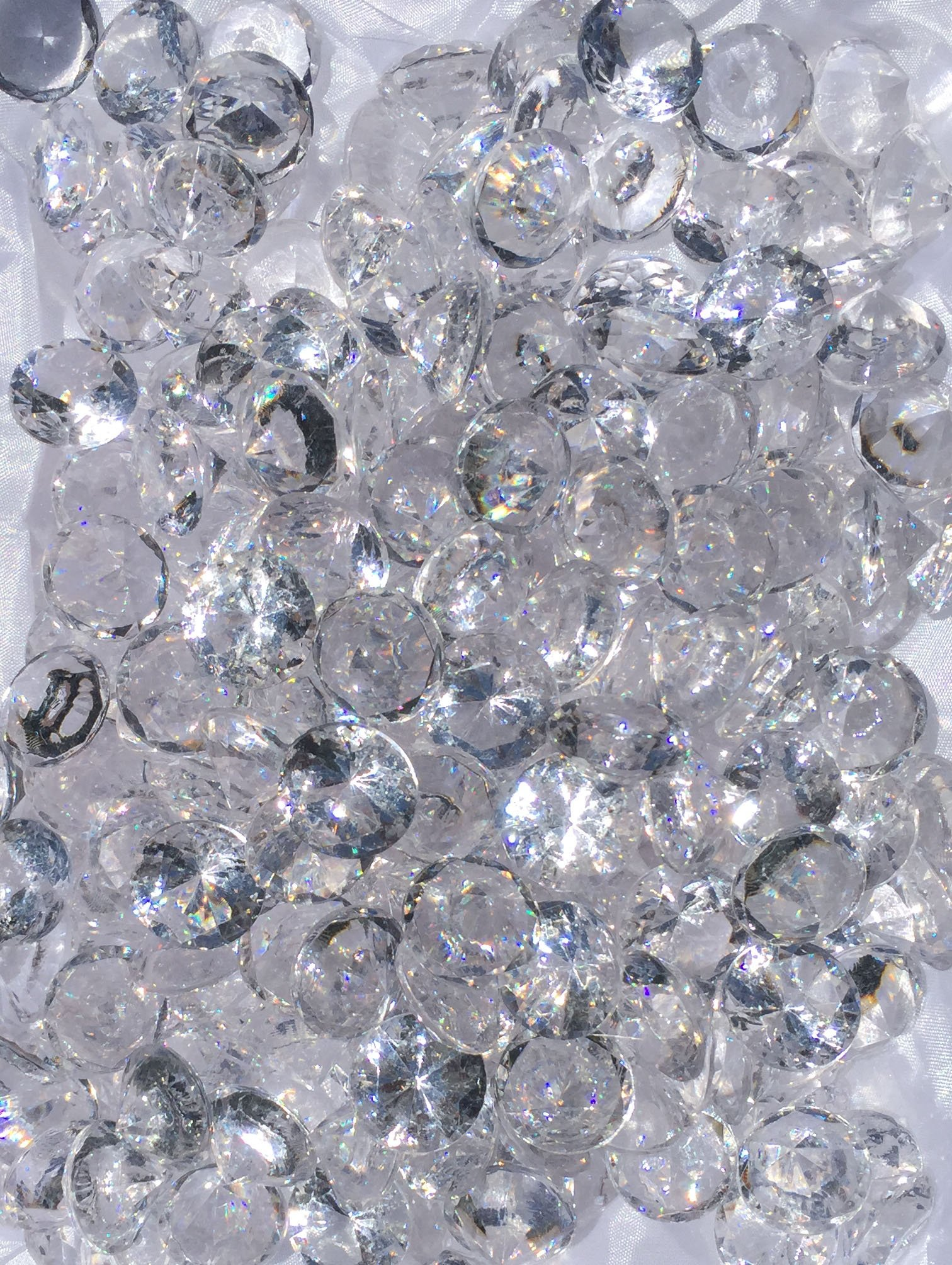480+ Pieces 20mm Crystal Clear Acrylic Diamond Shape Jewels for Party Decoration ,Event ,Wedding , Vase Fillers, Arts & Crafts by SunRise (Image #4)