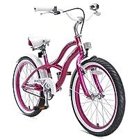 BIKESTAR Premium Sicherheits Kinderfahrrad 20 Zoll für Mädchen ab 6-7 Jahre ★ 20er Kinderrad Cruiser ★ Fahrrad für Kinder