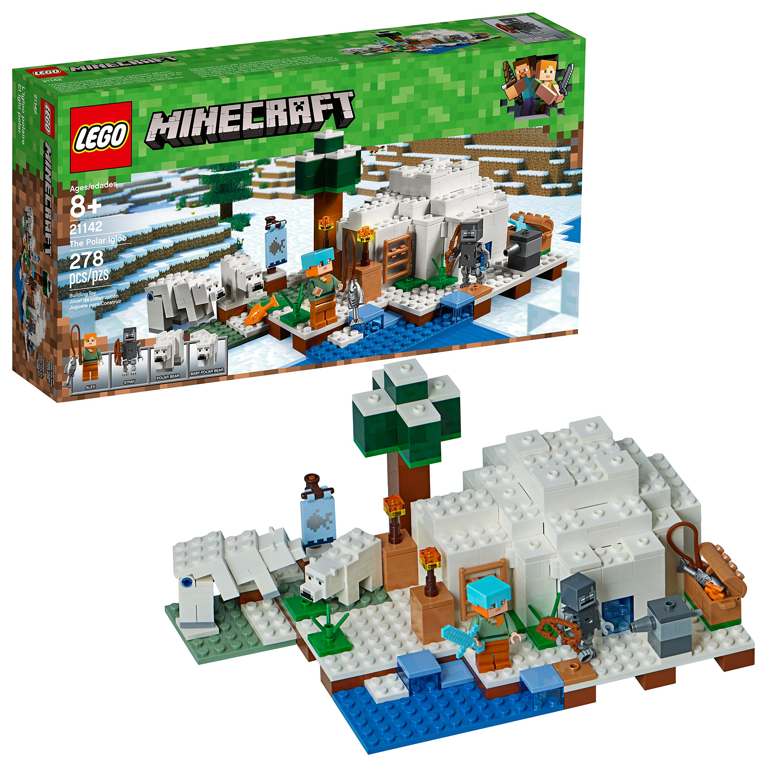 LEGO Minecraft The Polar Igloo 21142 Building Kit (278 Pieces) by LEGO