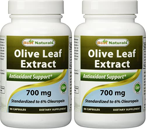 2 Pack – Best Naturals Olive Leaf Extract 700mg 90 Capsules Total 180 Capsules